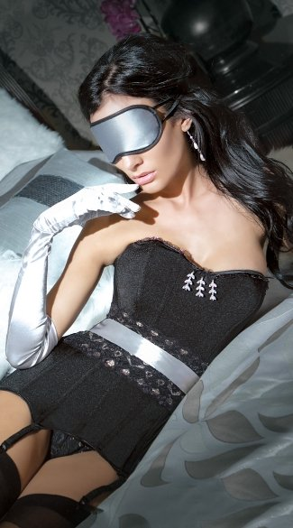 Silver Satin Eye Mask