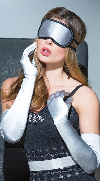 Silver Satin Eye Mask, Silk Eye Mask, Sexy Eye Mask