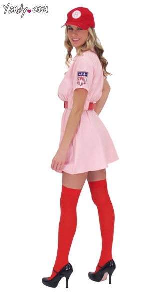 Deluxe City Of Rockford Peaches Costume A League Of Their Own Costume Rockford Peaches Outfit