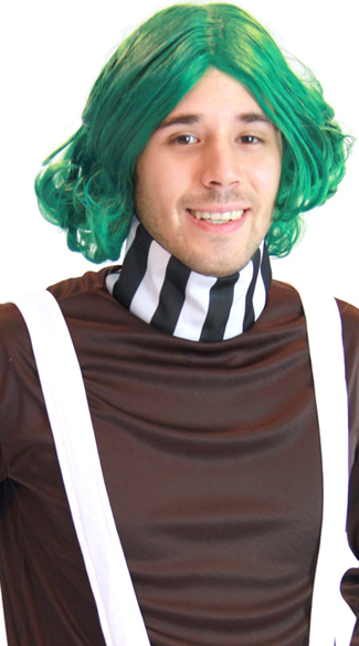 Green Chocolate Factory Worker Wig