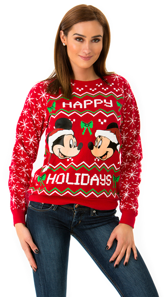 Mickey and Minnie Holiday Sweater, Disney Christmas Sweater ...