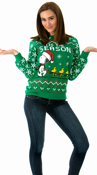 Festive Snoopy and Woodstock Holiday Sweater