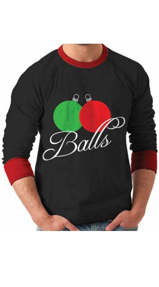 "Ornament ""Balls\"" Ugly Christmas Sweater"