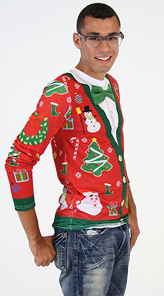 Plus Size Ugly Christmas Cardigan Sweater Shirt