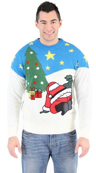 Santa Crack Ugly Christmas Sweater