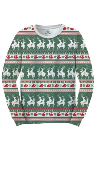 Plus Size Reindeers And Rabbits Faux Ugly Christmas Sweater Shirt