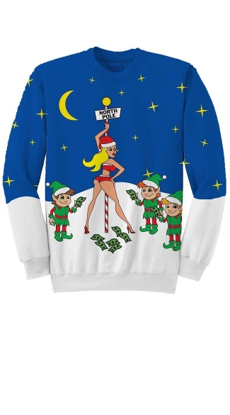 North Pole Stripper Ugly Christmas Sweater