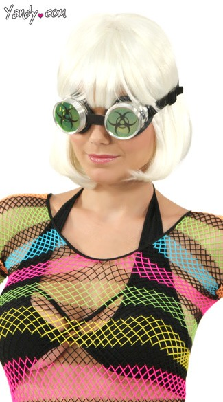 Bio-Hazard UV Green Goggles