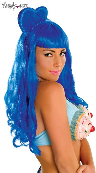 Blue California Girl Wig