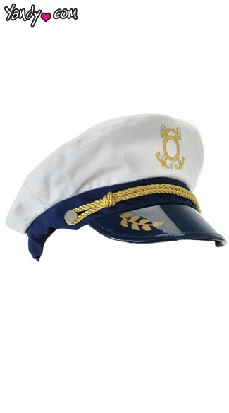 Captain Hat, White Captain Costume Hat, Sailor Hat