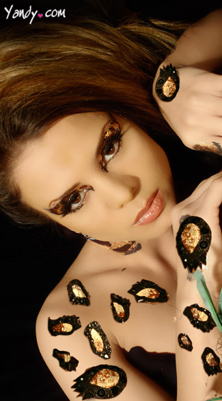 Cheetah Body Art Kit