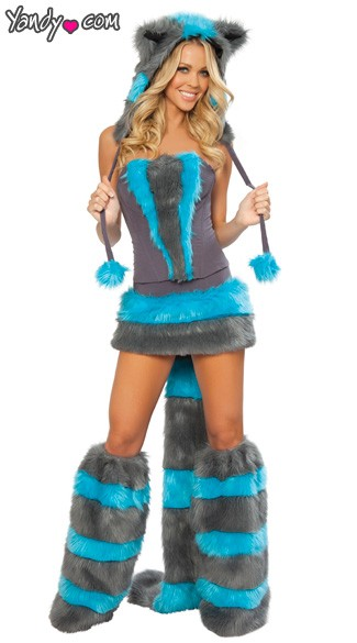 Mischievous Cheshire Cat Costume, Blue and Gray Cat Costume, Adult Cheshire Costume, Sexy Cheshire Costume