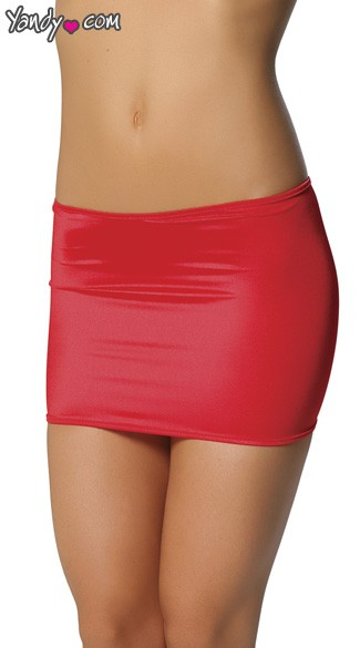 Clingy Lycra Mini Skirt