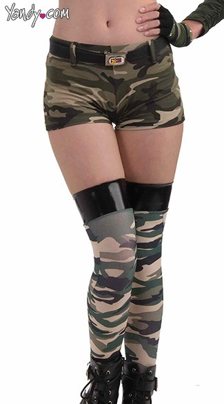 Combat Cutie Camo Shorts, Camouflage Shorts, Army Shorts, Sexy Army Outfits