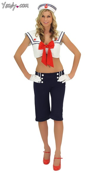 Miss Cracker Jack Sailor Costume, Miss Sailor Costume, Ship Shape Sailor Costume, Cracker Jack Sailor Halloween Costume