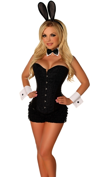 Plus Size Deluxe Bunny Beauty Costume, Plus Size Black Bunny Costume