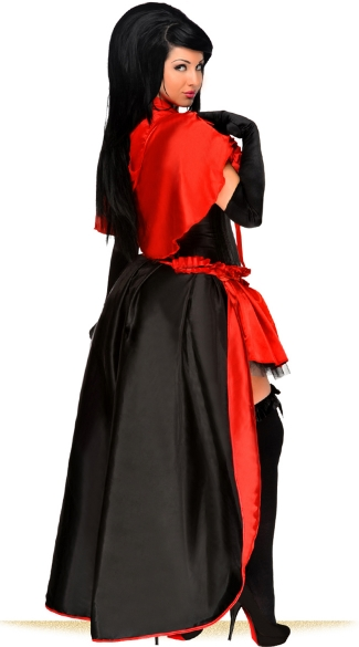 Plus Size Red Riding Vixen Corset Costume