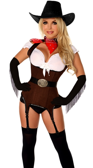 Deluxe Country Cowgirl Costume, Wild West Cowgirl Costume