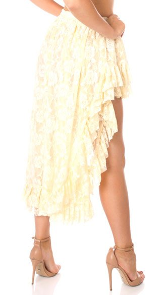 high low lace skirt white lace skirt high low skirt