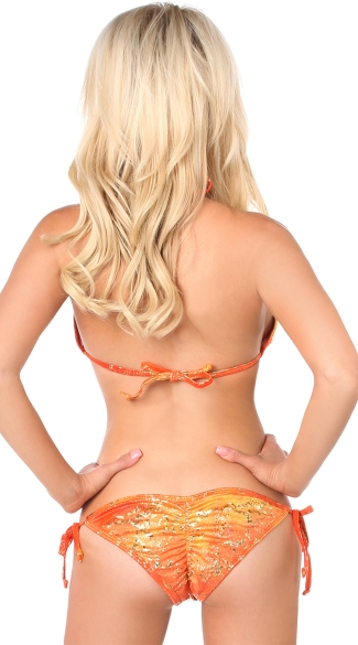 Orange Hologram Bikini