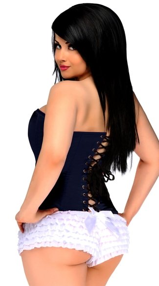 Navy Blue Sweetheart Corset