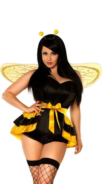 Lavish Plus Size Queen Bee Costume, Sexy Queen Bee Costume, Adult Bee Halloween Costume