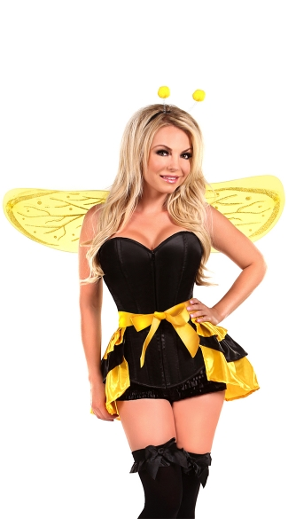 Lavish Queen Bee Costume, Sexy Queen Bee Costume, Adult Bee Halloween Costume