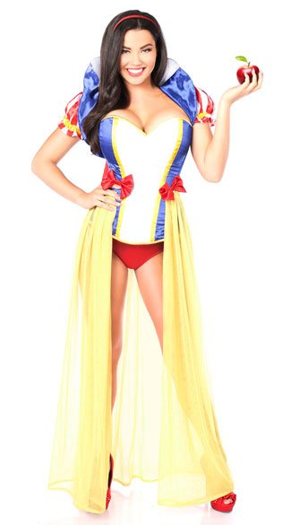Romantic Snow Princess Corset Costume, Sexy Princess Costume, Sexy Yellow Princess Costume