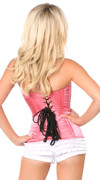 Plus Size Coral Sweetheart Corset