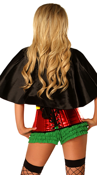 Plus Size Superhero Sidekick Corset Costume