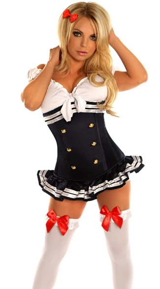 Pin-Up Navy Officer Costume