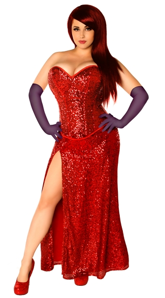 Plus Size Miss Jessica Costume, Plus Size Cartoon Character Costume, Plus Size Movie Costume