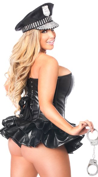 Plus Size Premium Cop Corset Dress Costume