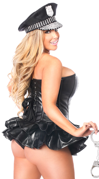 Premium Cop Corset Dress Costume