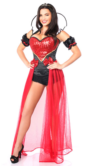 Sexy Fairy Tale Red Queen Costume Sexy Queen Costume Sexy Red Queen Costume