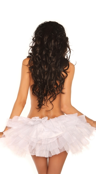 Plus Size White Petticoat, Plus Size Short Petticoat, Plus Size Costume Petticoat