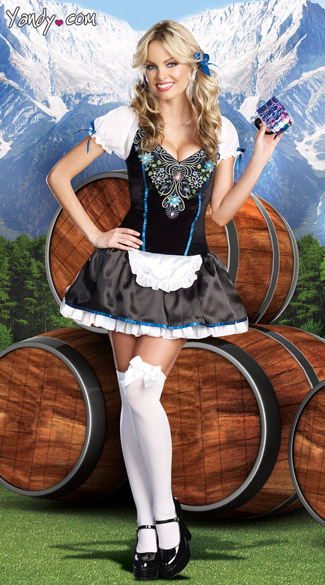 Beerly Legal Costume, Beer Garden Girl Costume