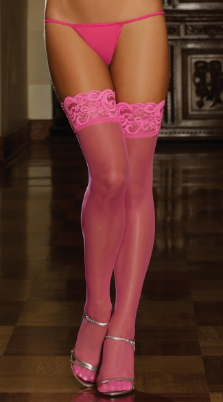 Backseam Bow Thigh Highs