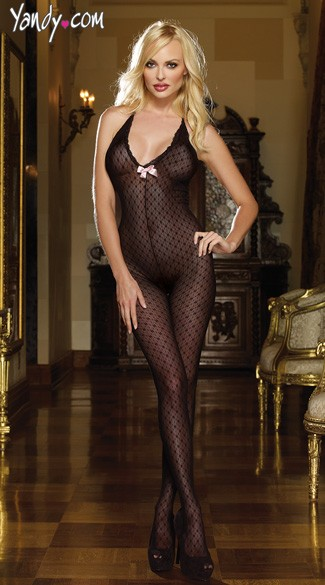 Bodystocking - Black Diamond Mesh