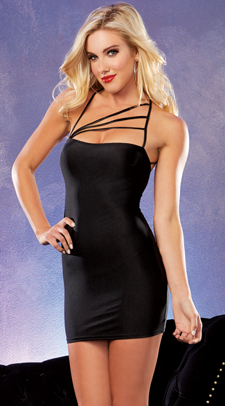Strappy Black Club Dress