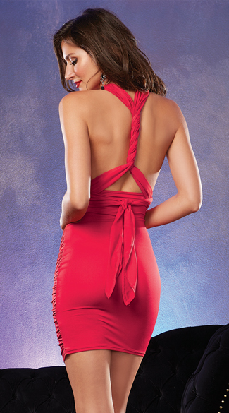 Versatile Ruched Red Dress
