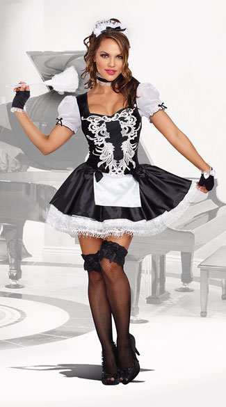 French Kisses Maid Costume, maid costume, sexy maid costume, french maid costume, sexy french maid costume