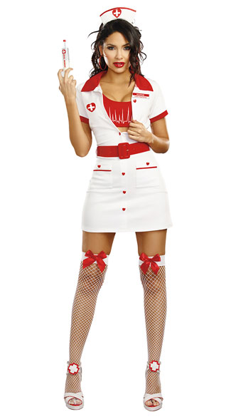 Heart Throbbing Hottie Nurse Costume, nurse costume, sexy nurse costume, nurse halloween costume, sexy nurse halloween costume