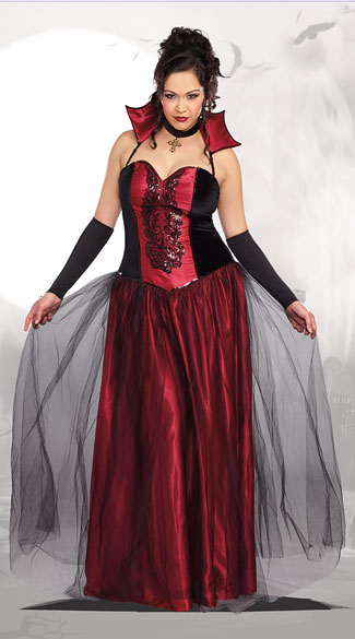 Plus Size Bloody Beautiful Vampire Queen Costume, plus size vampire costume, plus size sexy vampire costume, plus size vampire queen costume, plus size sexy vampire queen costume