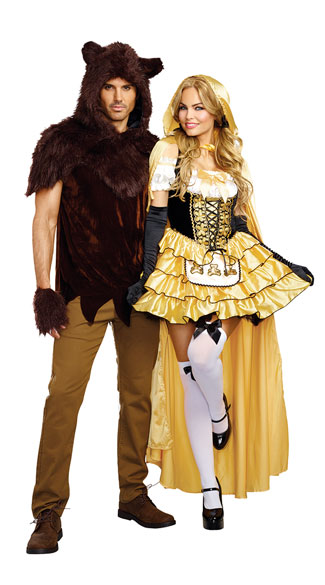 goldilocks and bear couples costume sexy goldilocks costume sexy fairytale costume three bears costume mens papa bear costume mens bear costume - Goldilocks Halloween Costumes