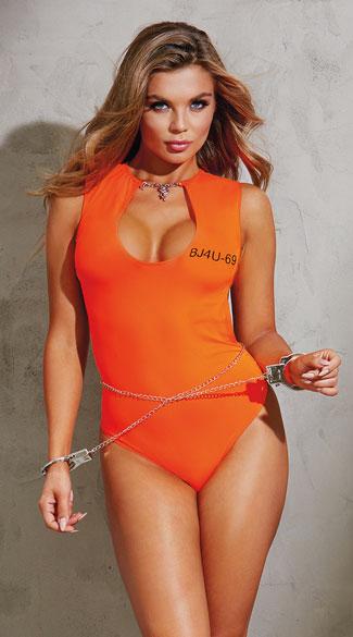 Convict Cutie Lingerie Costume, Sexy Inmate Costume, Sexy ...