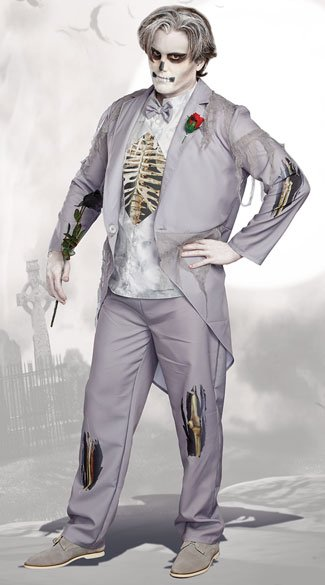Men\'s Got Cold Feet? Costume, Zombie Groom Costume - Yandy.com