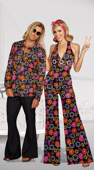 Groovy Baby Couples Costume, Groovy Baby! Costume, Sexy Hippie Costume - Yandy.com, Men\'s Groovy Baby! Costume, Men\'s Hottie Hippie Costume - Yandy.com