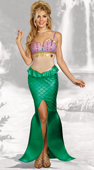 Sea Goddess Costume, Sexy Mermaid Costume - Yandy.com