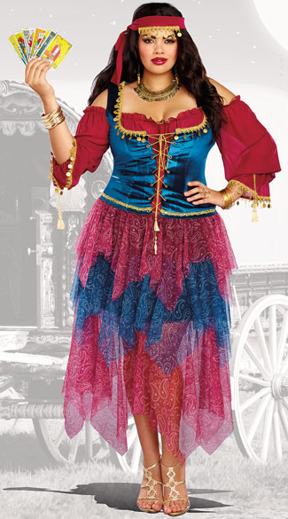 Plus Size Gypsy Costume, Plus Size Street Performer Costume - Yandy.com